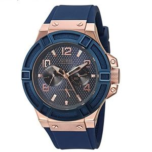 GUESS Men's Rigor Iconic Blue Stain